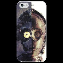 """Чехол для iPhone 5 глянцевый, с полной запечаткой """"C-3PO"""" - star wars, звездные войны, стар варс, ситрипио"""