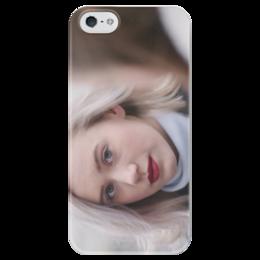 """Чехол для iPhone 5 глянцевый, с полной запечаткой """"Нура Амалия Сатре"""" - skam, стыд, сериал, актриса, петтерсен"""