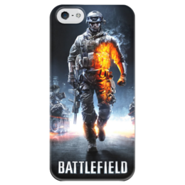 """Чехол для iPhone 5 глянцевый, с полной запечаткой """"Battlefield"""" - battlefield, бателфилд"""