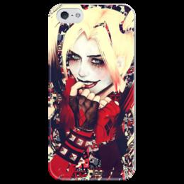 """Чехол для iPhone 5 глянцевый, с полной запечаткой """"Харли Квинн / Harley Quinn"""" - рисунок, джокер, кино, бэтмен, харли"""