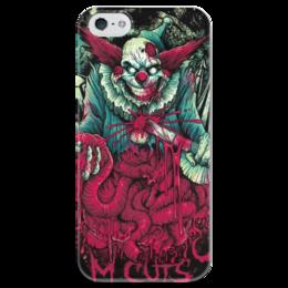 "Чехол для iPhone 5 глянцевый, с полной запечаткой ""Клоун зомби"" - хэллоуин, зомби, joker, кишки, клоун"
