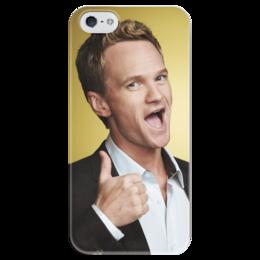 """Чехол для iPhone 5 глянцевый, с полной запечаткой """"Барни Стинсон"""" - how i met your mother, barney stinson, как я встретил вашу маму, барни стинсон"""