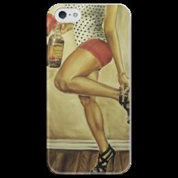 """Чехол для iPhone 5 глянцевый, с полной запечаткой """"Beautiful legs """" - девушка, girl, ретро, ноги, пинап, retro, pin-up, 50's, 50ые, legs"""