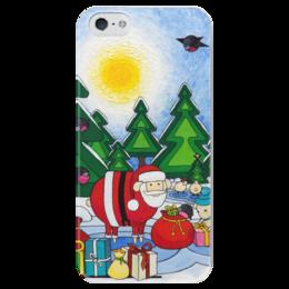 """Чехол для iPhone 5 глянцевый, с полной запечаткой """"Lollypups #12 (Christmas) """" - арт, подарок, рождество"""