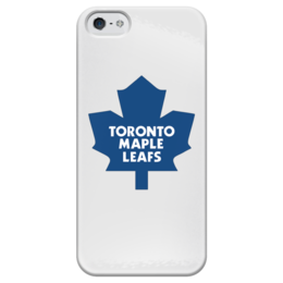 "Чехол для iPhone 5 глянцевый, с полной запечаткой ""Toronto Maple Leafs"" - хоккей, hockey, спортивная, nhl, нхл, canada, toronto, maple leafs"