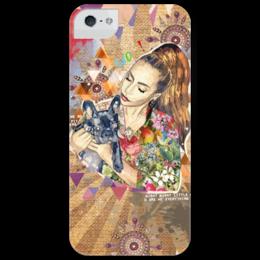 "Чехол для iPhone 5 глянцевый, с полной запечаткой ""Lady Gaga "" - gaga, креативно, lady gaga, леди гага, iphone 5"