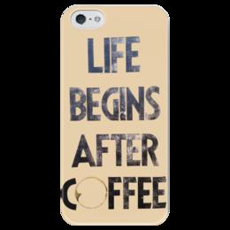 """Чехол для iPhone 5 глянцевый, с полной запечаткой """"Кафе у Натали """" - life, жизнь, кофе, начало, coffee"""