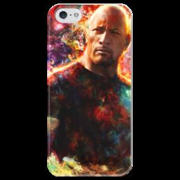 """Чехол для iPhone 5 глянцевый, с полной запечаткой """"Дуэйн """"Скала"""" Джонсон"""" - the rock, dwayne johnson"""