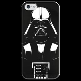 """Чехол для iPhone 5 глянцевый, с полной запечаткой """"Dart Vaider"""" - star wars, звездные войны, дарт вэйдер, dart vaider"""