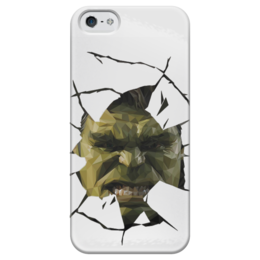 "Чехол для iPhone 5 глянцевый, с полной запечаткой ""Hulk / Халк"" - hulk, marvel, мстители, халк, kinoart"