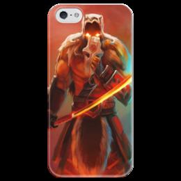 """Чехол для iPhone 5 глянцевый, с полной запечаткой """" Juggernaut True"""" - арт, juggernaut, дота 2, джагернаут"""