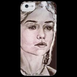 """Чехол для iPhone 5 глянцевый, с полной запечаткой """"Game of Thrones"""" - арт, game of thrones, got, игра престолов, daenerys targaryen, khaleesi, дейенерис таргариен, кхалиси"""