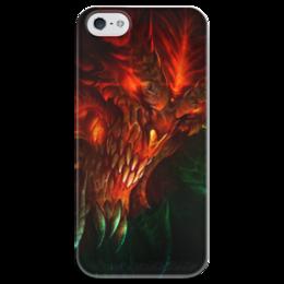 """Чехол для iPhone 5 глянцевый, с полной запечаткой """"Diablo III"""" - blizzard, диабло, близзард"""