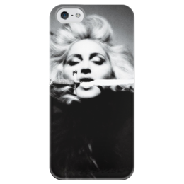 "Чехол для iPhone 5 глянцевый, с полной запечаткой ""Мадонна"" - madonna, мадонна, мировая певица"
