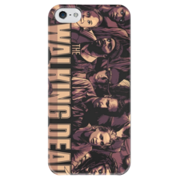 """Чехол для iPhone 5 глянцевый, с полной запечаткой """"Ходячие мертвецы"""" - зомби, ходячие мертвецы, ходячие, the walking dead"""