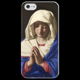 """Чехол для iPhone 5 глянцевый, с полной запечаткой """"Дева Мария"""" - картина, сальви"""