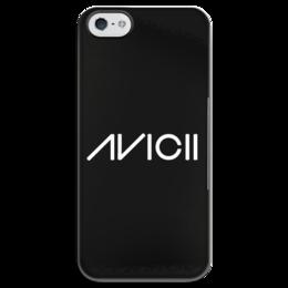 """Чехол для iPhone 5 глянцевый, с полной запечаткой """"Avicii"""" - диджей, avicii, авичи"""