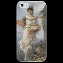 """Чехол для iPhone 5 глянцевый, с полной запечаткой """"Альпийская Флора"""" - картина, зацка"""