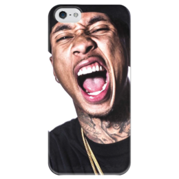 "Чехол для iPhone 5 глянцевый, с полной запечаткой ""Tyga music"" - music"