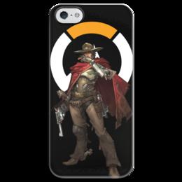 """Чехол для iPhone 5 глянцевый, с полной запечаткой """"McCree Overwatch / МАККРИ Овервотч"""" - игры, overwatch, mccree, овервотч, маккри"""