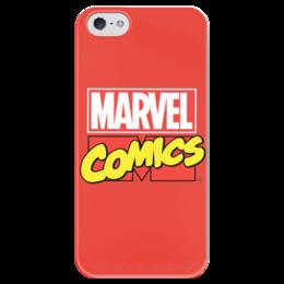 """Чехол для iPhone 5 глянцевый, с полной запечаткой """"Марвел"""" - comics, комиксы, marvel, марвел, капитан америка, captain america, superheroes"""
