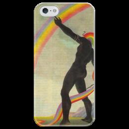 """Чехол для iPhone 5 глянцевый, с полной запечаткой """"Радуга"""" - позитив, радуга, цвета, rainbow, color, цветной"""