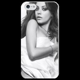 """Чехол для iPhone 5 глянцевый, с полной запечаткой """"Мила Кунис"""" - девушка, mila kunis, actress"""