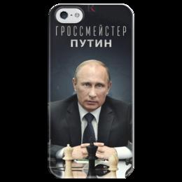 """Чехол для iPhone 5 глянцевый, с полной запечаткой """"Путин"""" - путин, президент, putin, знаменитость"""