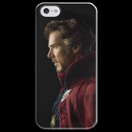 """Чехол для iPhone 5 глянцевый, с полной запечаткой """"Доктор Стрэндж"""" - marvel, мстители, марвел, доктор стрэндж, doctor strange"""