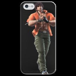 """Чехол для iPhone 5 глянцевый, с полной запечаткой """"Tekken"""" - tekken, игры"""