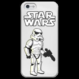"""Чехол для iPhone 5 глянцевый, с полной запечаткой """"Star Wars - Штурмовик"""" - star wars, симсоны, звездные войны, штурмовик"""