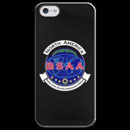 """Чехол для iPhone 5 глянцевый, с полной запечаткой """"Resident Evil. BSAA"""" - resident evil, umbrella, re, bsaa"""