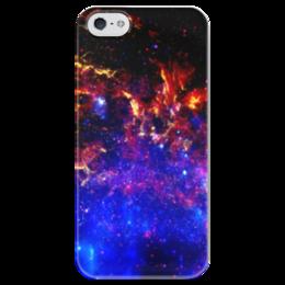 """Чехол для iPhone 5 глянцевый, с полной запечаткой """"Великий Космос"""" - космос, наука, прогресс, денис гесс, the spaceway"""