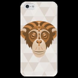 """Чехол для iPhone 5 глянцевый, с полной запечаткой """"Год обезьяны"""" - обезьяна, символ года, гороскоп, 2016"""