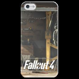 "Чехол для iPhone 5 глянцевый, с полной запечаткой ""Fallout 4 Garage"" - fallout, fallout 4"