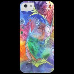 """Чехол для iPhone 5 глянцевый, с полной запечаткой """"Little fish"""" - арт, color, рыба, fish"""