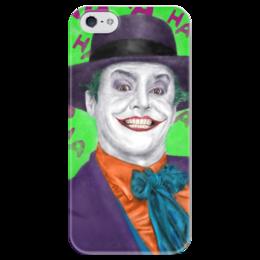 """Чехол для iPhone 5 глянцевый, с полной запечаткой """"Джокер"""" - joker, комиксы, бэтмен, dc comics, джек николсон"""