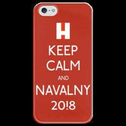 """Чехол для iPhone 5 глянцевый, с полной запечаткой """"За Навального"""" - навальный, keepcalm, алексей навальный, выборы2018, навальный2018"""