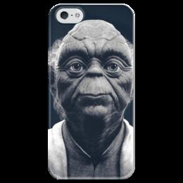 "Чехол для iPhone 5 глянцевый, с полной запечаткой ""Мастер Йода"" - арт, yoda, йода, звёздные войны, stars wars"