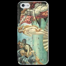 """Чехол для iPhone 5 глянцевый, с полной запечаткой """"Рождение Венеры (Сандро Боттичелли)"""" - картина, боттичелли"""