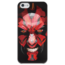 "Чехол для iPhone 5 глянцевый, с полной запечаткой ""Дарт Мол (Darth Maul)"" - star wars, звездные войны, darth maul, дарт мол, ситхи"