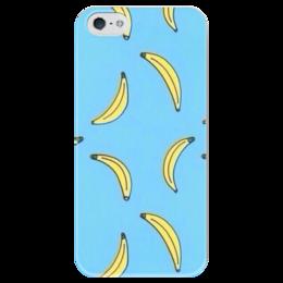"""Чехол для iPhone 5 глянцевый, с полной запечаткой """"Banana"""" - бананы, banana, fruits"""
