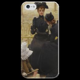 """Чехол для iPhone 5 глянцевый, с полной запечаткой """"Разговоры в Люксембургском саду"""" - картина, коркос"""