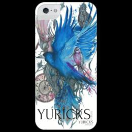 """Чехол для iPhone 5 глянцевый, с полной запечаткой """"ARTOTW"""" - арт, стиль, рисунок, птицы, birds, blue"""