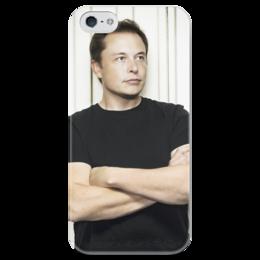 """Чехол для iPhone 5 глянцевый, с полной запечаткой """"Илон Маск"""" - космос, маск, spacex, вселенная, thespaceway"""