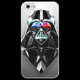"Чехол для iPhone 5 глянцевый, с полной запечаткой ""Дарт Вейдер Darth Vader Star Wars Звездные Войны"" - star wars, звездные войны, дарт вейдер"