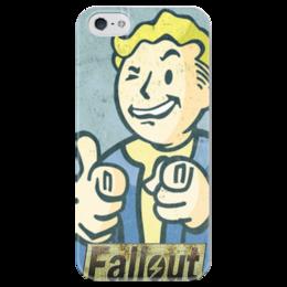 """Чехол для iPhone 5 глянцевый, с полной запечаткой """"Vault boy"""" - fallout, vault boy, волт-бой"""