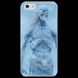 """Чехол для iPhone 5 глянцевый, с полной запечаткой """"Белый Ходок"""" - игра престолов, белые ходоки, белый ходок, game of thrones, got, white walker, winter is coming"""