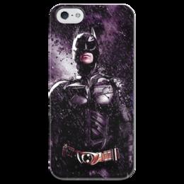 """Чехол для iPhone 5 глянцевый, с полной запечаткой """"Batman """" - comics, бэтмен, dc, superhero, dark knight, batman, hero"""