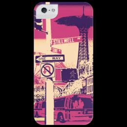 "Чехол для iPhone 5 глянцевый, с полной запечаткой ""Сity                               "" - new york, city, nyc, brooklyn, бруклин"
